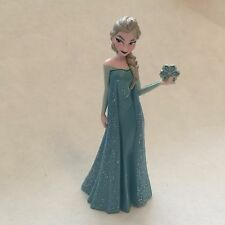 Disney Store Authentic SNOW QUEEN ELSA FIGURINE Cake TOPPER Toy FROZEN NEW