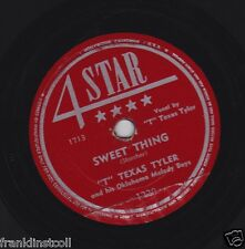 T Texas Tyler on 78 rpm 4 Star 1228: Deck of Cards/Sweet Thing