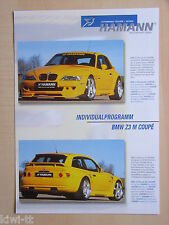 Hamann Motorsport BMW Z3 M Coupe Tuning, Prospekt / Brochure, D/GB