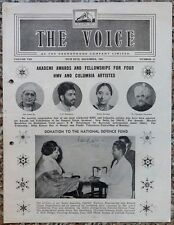 India THE VOICE December 1965 HMV Magazine - Lata Mangeshkar & Asha Bhosle
