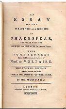 An Essay on the Writings and Genius of Shakespear, by Mrs Montagu 4th Ed. - 1777