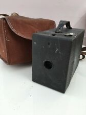Kodak No 2 Brownie Hawkeye Model C vintage box camera with case