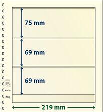 Lindner T-Blanko-Blätter mit drei Taschen im 10er Pack  Art.-Nr. 802 307