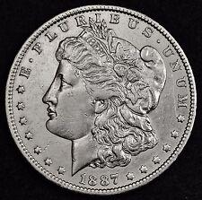 1887-o Morgan Silver Dollar.  A.U.  106136