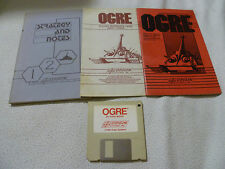 AMIGA COMMODORE COMPUTER PC GAME OGRE W MANUAL REFERENCE CARD ORIGIN SYSTEMS