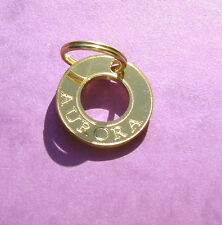 cat dog tag id gold brass Ref Polo