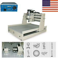 4 AXIS CNC Router Engraver Engraving Drilling Milling Machine Desktop 3040 400W