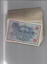 papiergeld deutschland  50x100 Mark 1908, Siegel rot, normale Erhaltungen