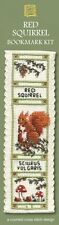 Red Squirrel Bookmark Cross Stitch Kit - Textile Heritage