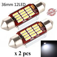 2 ampoule Navette LED C5W 36mm ANTI ERREUR CANBUS plafonnier plaque 6500k