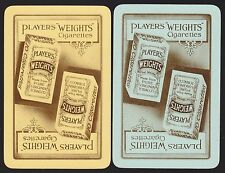 2 SINGLE VINTAGE SWAP PLAYING CARDS ADV PLAYERS WEIGHTS CIGARETTES TOBACCO BY