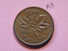 1964 Canada Canadian Small 1c  (One) Cent Coin