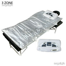 3 Zones Far Infrared FIR Sauna Slimming Blanket Weight Lose Spa Detox