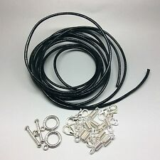 Make Your Own Leather Thong Cord Necklace Silver DIY Kit Findings 2metre length