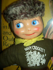 Vintage, large DAVY CROCKETT, stuffed western frontier character doll, 1950s toy