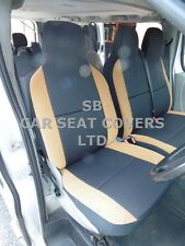 TO FIT MERCEDES SPRINTER VAN SEAT COVERS - DIESEL - EBONY / TAN SUEDE 1S +1D