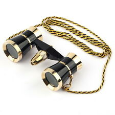 Black Binoculars Opera Theatre 3X25 Glasses Telescope Optics With Chain AU