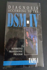 Diagnosis According To The DSM-IV Tape 1 2 3 New VHS Tape Set 1994 Free Ship