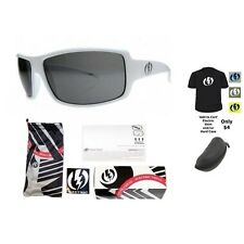 NEW Electric Visual Ec/Dc XL  Gloss White  Mens Wrap Sunglasses Msrp$90
