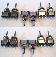 24x Point Motor Switches Mini Toggle SPDT (on) Off (on) Seep-Hornby-Peco T48Post