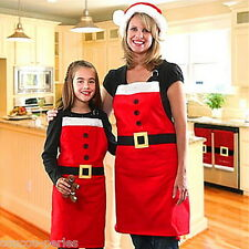 Festive Xmas Santa Kitchen Bar Adult Cooking Party Funny Apron Christmas Gift