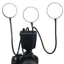 UK Mcoplus LED Macro Camera Flash Speedlite Flexible Metal Hose for Canon Nikon