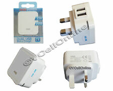 Dual Port USB Mains Charger,Wall Plug for iPhone 6/6 Plus/5/5S/5C/4/4S/iPad/iPod