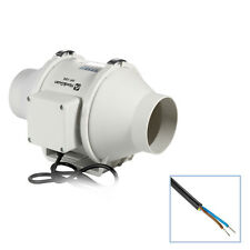 """4"""" 100P 116CFM InLine Hydroponics Duct Ventilation 220V Duct Fan Room Extractor"""