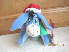 "NEW Disney Winnie the Pooh CHRISTMAS EEYORE Plush Stuffed Toy Doll 7""  NWOT"
