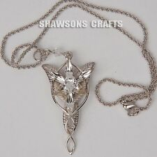 LORD OF RINGS JEWELRY ARWEN EVENSTAR 925 STERLING SILVER PENDANT NECKLACE