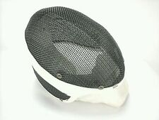 Vintage Fencing Helmet Santelli NYC Blade Mask Wire Mesh Face Guard White