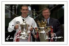 ERIC CANTONA & ALEX FERGUSON MANCHESTER UNITED SIGNED PHOTO PRINT  SOCCER