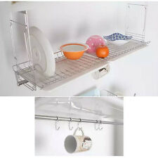 New Stainless Sink Dish Dry Rack Dish Plate Organizer Cup Holder Kitchen Storage