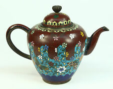 *Antique FINE Meiji (1868-1912) Japanese Cloissone Enamel Diminutive Tea Pot
