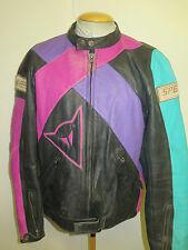 "Vintage Dainese CAFE RACER Leather Motorcycle Biker Jacket XL 46"" Euro 56"