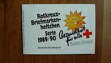 Rotkreuz - Briefmarkenheftchen 1989/90,5 x Mi 1439, postfrisch