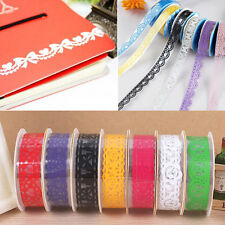10 PCS Decorative Lace Roll Washi Sticky Paper Masking Adhesive Tape DIY Crafts