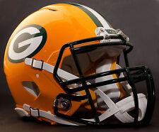 ***CUSTOM*** GREEN BAY PACKERS NFL Riddell Revolution SPEED Football Helmet