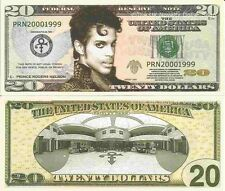 Prince Rodgers Nelson Paisley Park Twenty Dollar Bills x 4 American Singer Actor