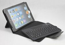 Black Leather Case w/Removable Wireless Bluetooth Keyboard For Apple iPad Mini