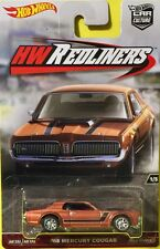 Hot Wheels 1:64 2016 Car Culture Redliners 1/5 68 MERCURY COUGAR Brown DWH82