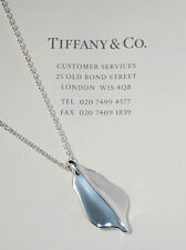 Tiffany & Co Sterling Silver Nature Leaf Charm 16 Inch Necklace