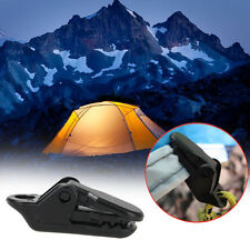 10 Pcs TARP CLIPS CLAMP AWNING SET CAR BOAT COVER TENT TIE DOWN EMERGENCY SNAPS