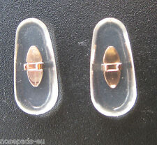 2 Paar/pair 17 mm Clip-on PVC nose pads Nasenstege GOLD for Ray Ban frames