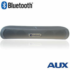 Bluetooth Speaker Wireless Speaker Portable with MP3 Player, AUX & Mic - SILVER