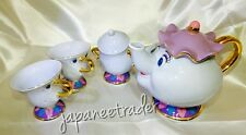 NEW Tokyo Disney Resort Limited Beauty and The Beast Mrs Potts, Chip Tea Set