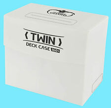 ULTIMATE GUARD TWIN DECK CASE 160+ White CARD STORAGE BOX 2 Dividers NEW MTG
