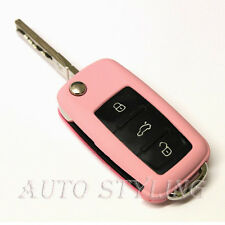 Key Cover For VW Seat Skoda Case Remote Fob Protector Shell 3 Button Flip n27