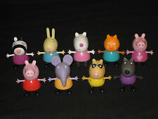 PEPPA PIG FIGURES. THE ORIGINAL FULL SET OF FRIENDS HARD PLASTIC CHARACTERS TOY
