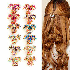 NT Crystal Flower Mini Hair Claw Clamp Hair Clip Clips Hair Pin Hair Accessory